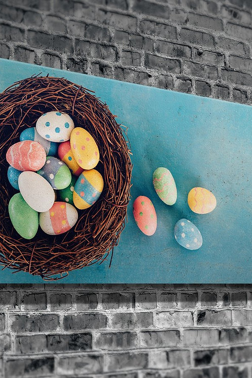 Colored Eggs  Canvas Printings