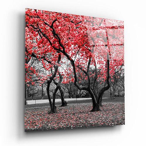 Red Tree UV Printed Glass Printing
