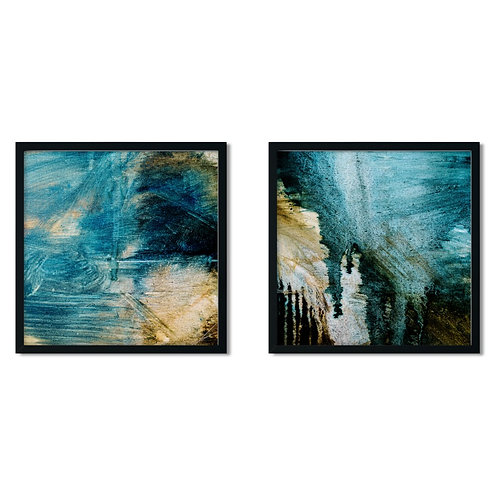 Abstract Blue Framed Painting
