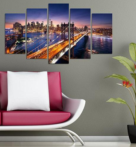 Brooklyn Bridge (8) 5 Pieces MDF Painting
