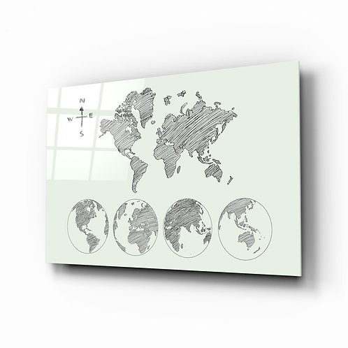 Continents Glass Printing