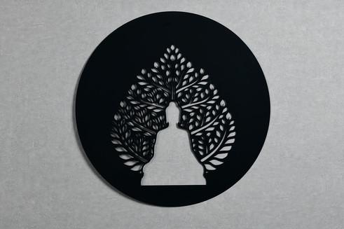 Quadro Redondo Folha Buda