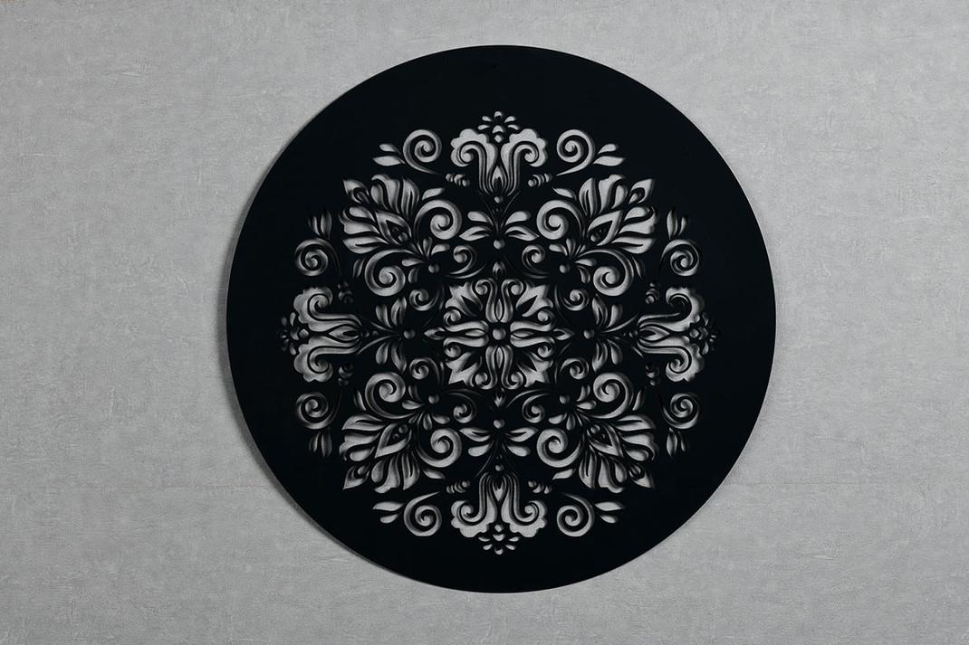 Quadro Redondo Flores