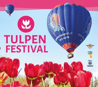 Nieuw: ballonvaren boven de tulpen