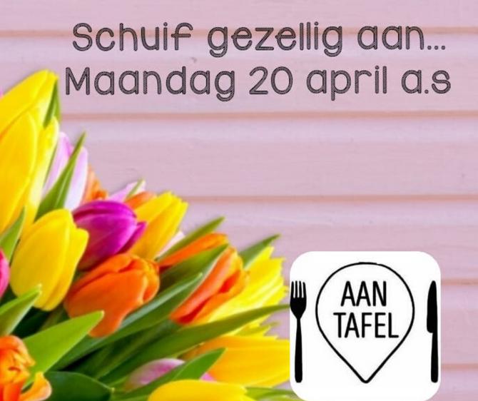 Aan Tafel op het Tulpenbelevingsveld