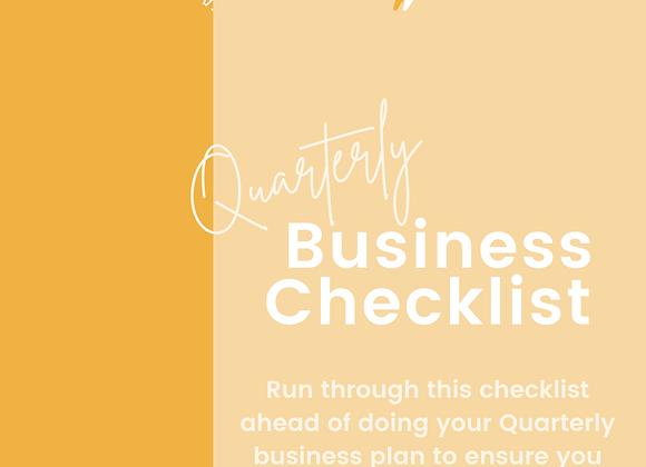 Quarterly Business Checklist