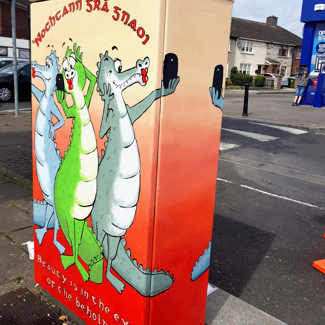 Dublin Canvas Project titled 'Nochtann Grá Gnaoi (Beauty is in the eye of the beholder)'