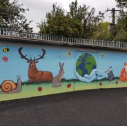 School mural in Mary Queen Of Angels School