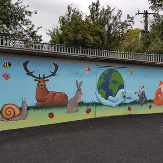 School mural in Mary Queen Of Angels School