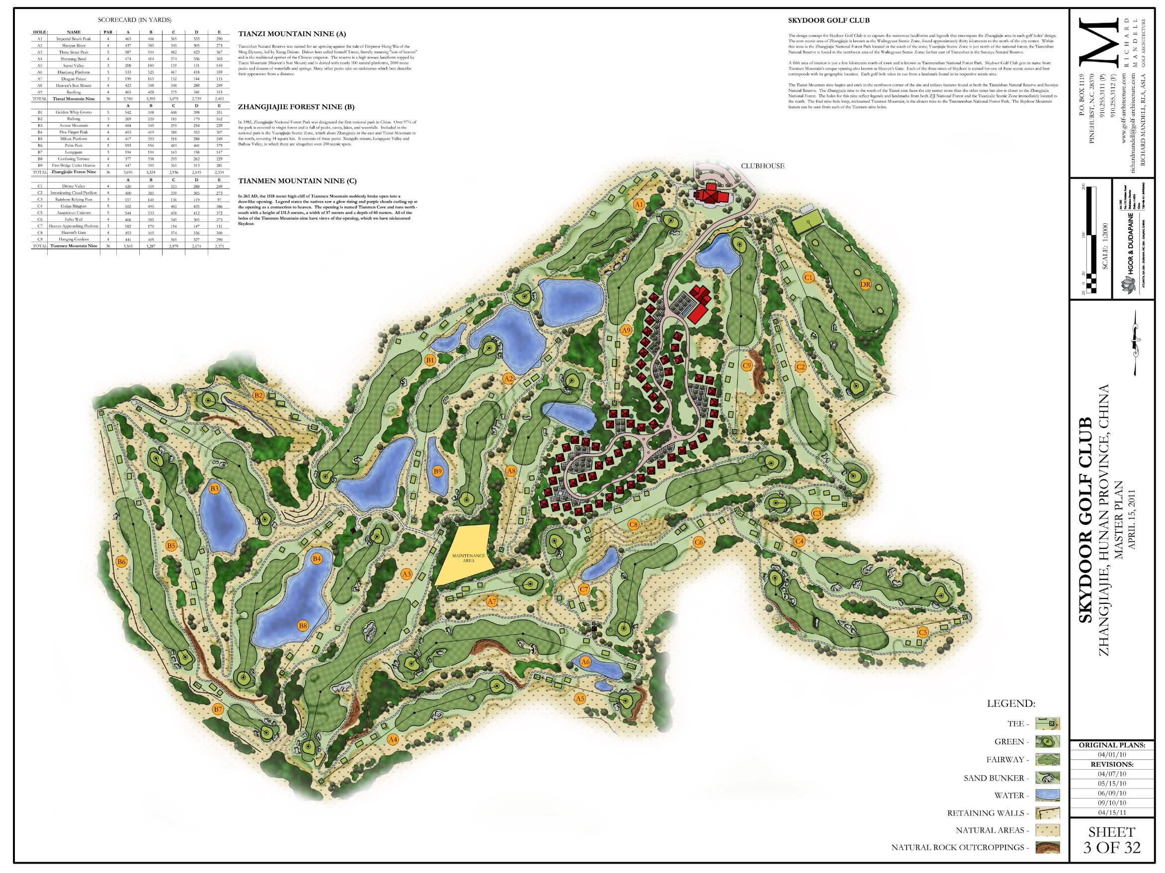 Skydoor Golf Course Master Plan