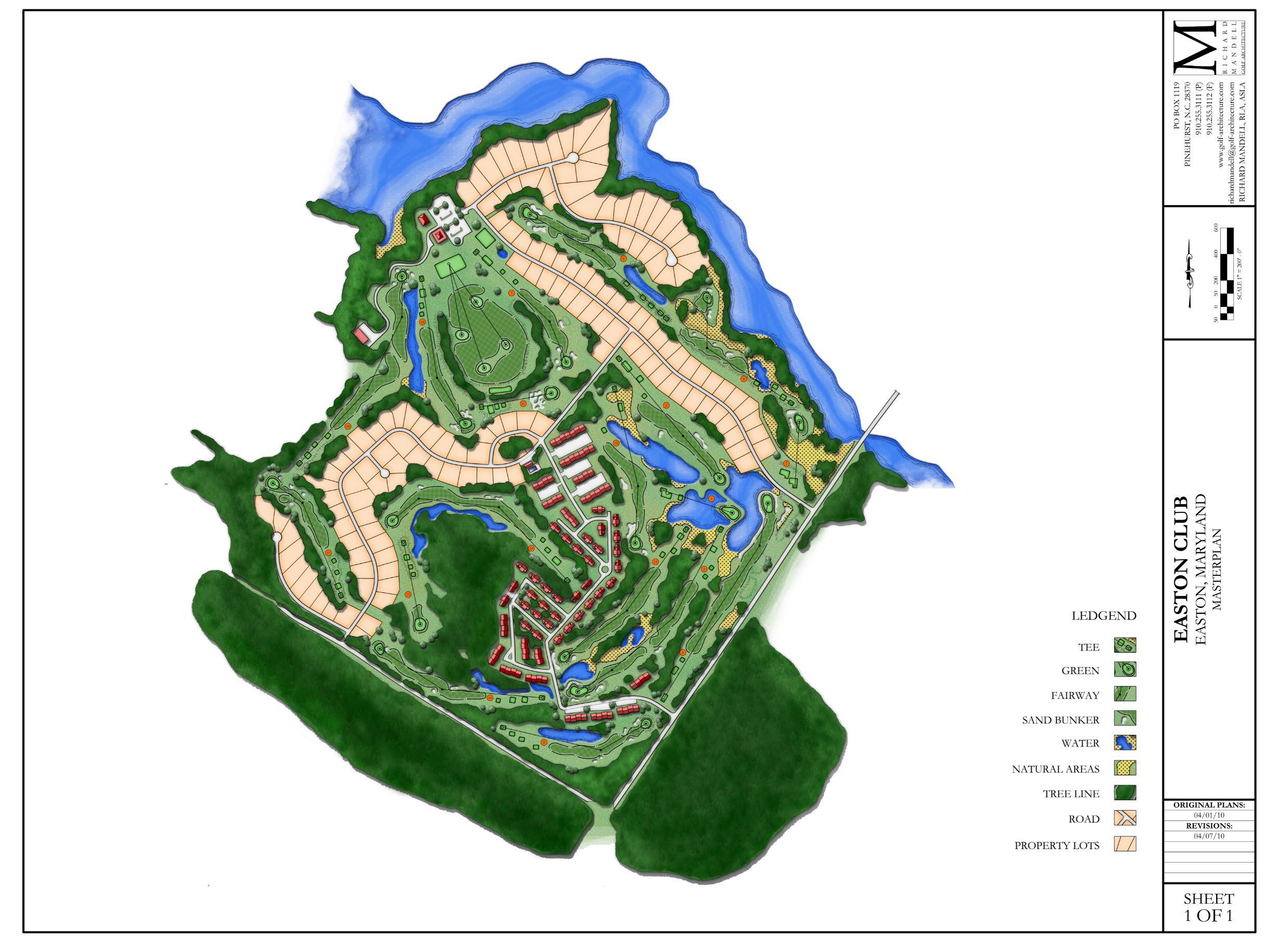 Easton Club Golf Course Master Plan