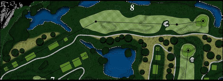 Braemar Golf Course - Hole #8