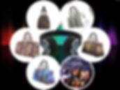 ENE TRENDS Art Manifested Travel Bags 4.