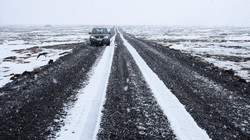 Driving during winter in Iceland...
