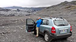 Facing Sólheimajökull Glacier