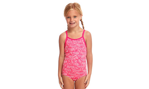 FUNKITA TODDLER GIRLS ECO PRINTED ONE PIECE (Painted Pink)