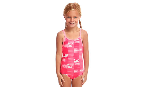 FUNKITA TODDLER GIRLS PRINTED ONE PIECE (Swan Lake)
