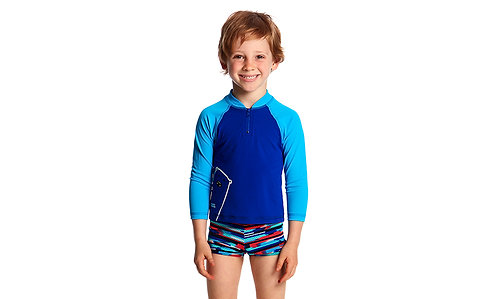 FUNKY TRUNKS TODDLER BOY'S ZIPPY RASH VEST (Bear Grills)