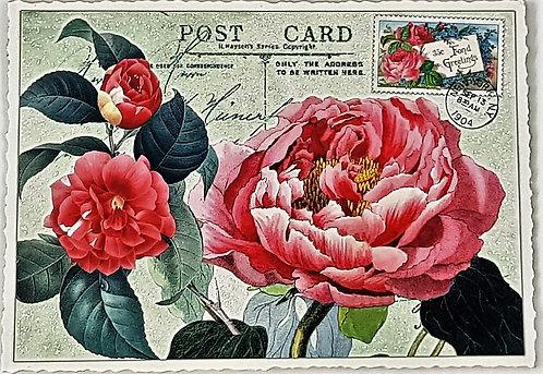 KunstpostKarte - Rose