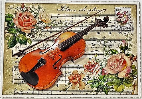 KunstpostKarte Geige
