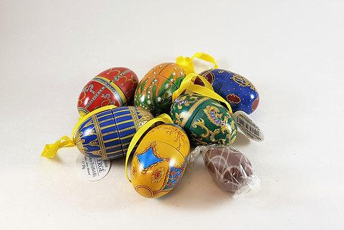 Mini Faberge-Eier aus Blech, gefüllt