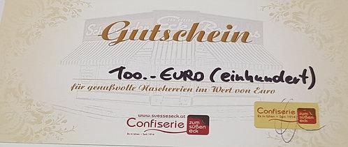 Gutschein für Naschereien im Wert von € 100,--