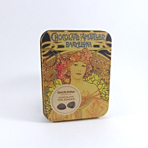 Amattler, Bitterschokoladeblätter in Dose