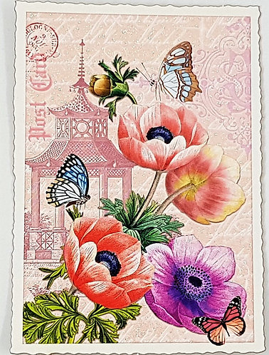 Kunstpostkarte - Annemone