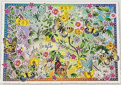 KunstpostKarte Schmetterlinge