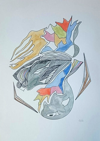 Fluidity, Ink on Paper, 250 euro, Framed,