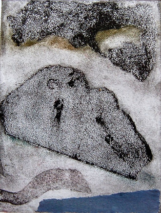 Cloud & Sea, Callograph&Etching Print on Fabriano Paper, 90euro