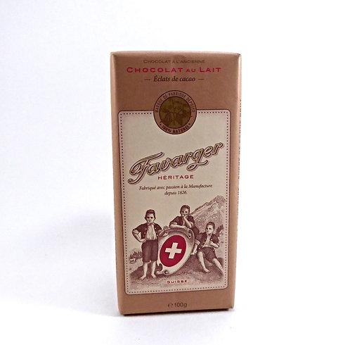 Favarger Milch mit Kakaobohnensplittern