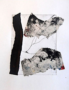 Traces, Chine Colle, Etching on Fabriano Paper, framed 250euro