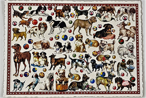 KunstpostKarte Hunde
