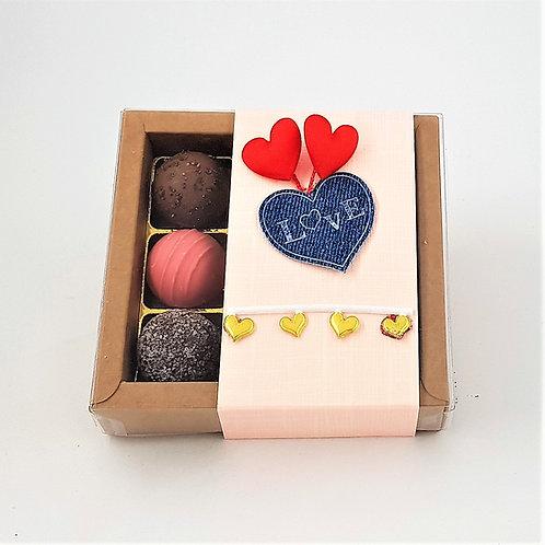 gemischte Trüffel 9er Box, Love