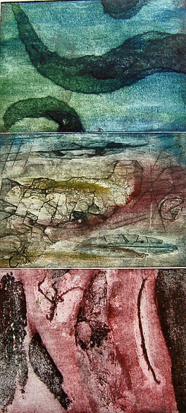 Seaprint, Callograph&Etching on Fabriano Paper