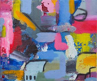 Sugarcoated Realities I, 35x25cm, acryli