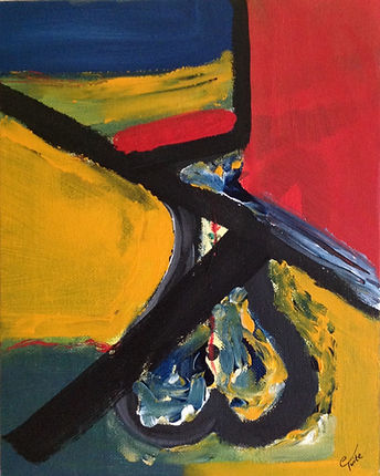 Crossing Over, acrylic on canvas, €70