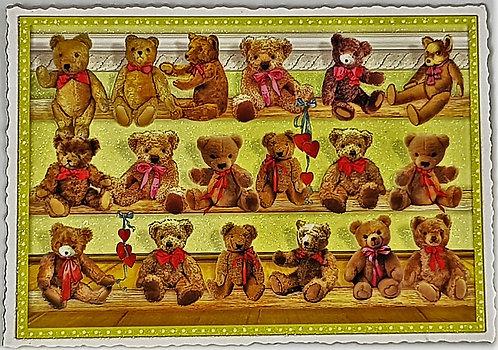 KunstpostKarte Teddy