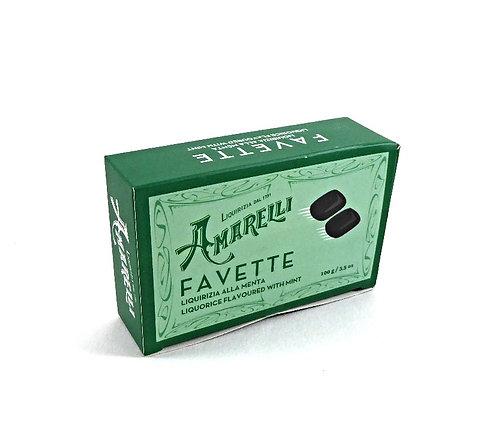 Amarelli Favette (mit Minze), Schachtel