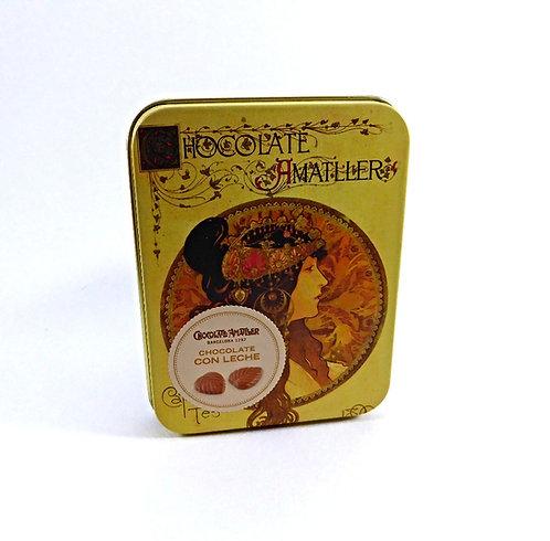 Amattler, Milchschokoladeblätter in Dose