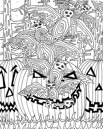 Pumpkin Mouth Paint by Number