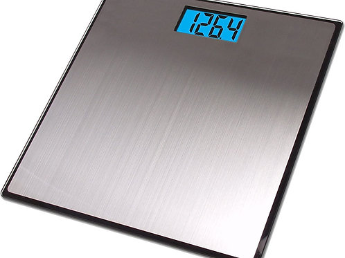 MEDITIVE Stainless Steel Digital Body Weight Bathroom Scale, Step-On Technology,