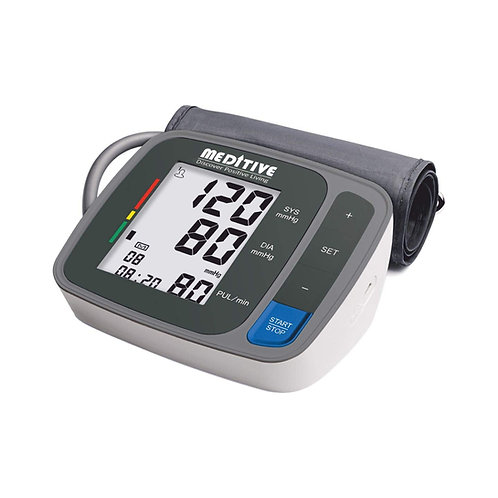 MEDITIVE Fully Automatic Arm-type Digital Blood Pressure Monitor with Large LCD