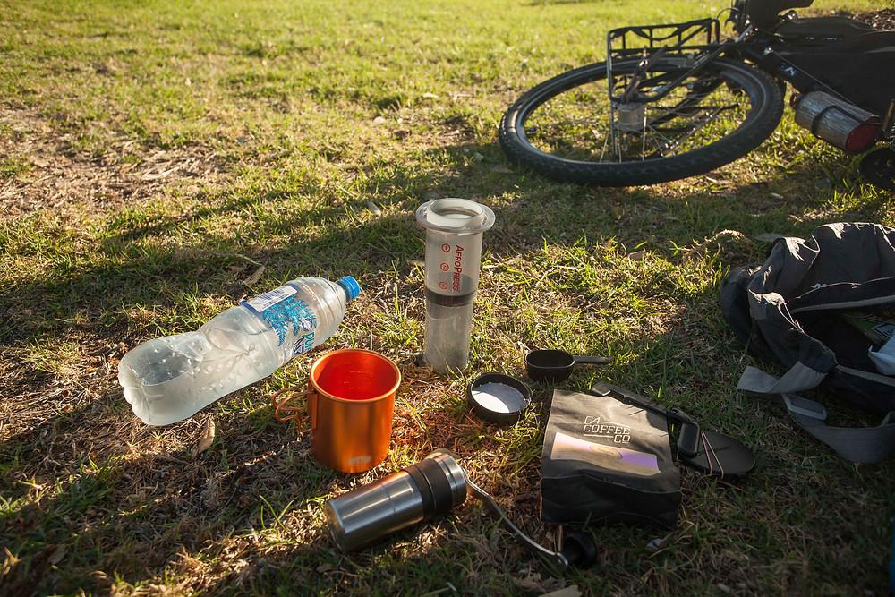 aeropress go bikepacking coffee kit biketouring