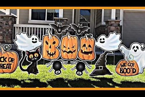 Halloween Yard Card display (Rental only)