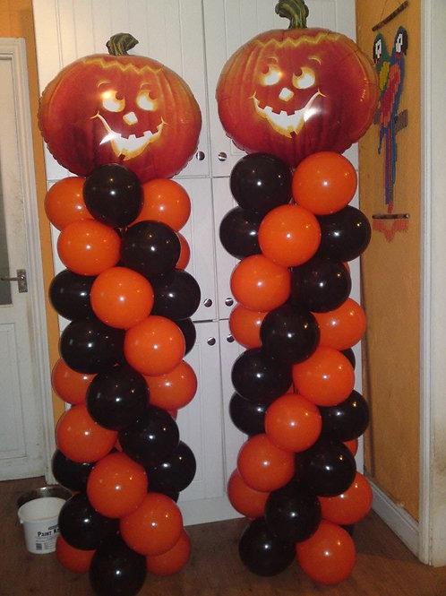 Halloween Balloon Columns