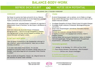 Workshop Balance-Body-Work