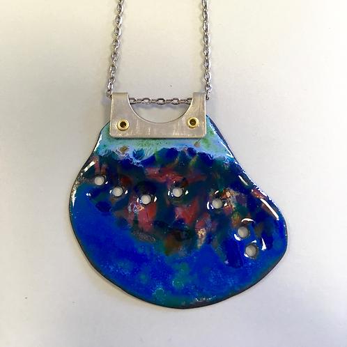 Blue Lagoon Enamel Necklace