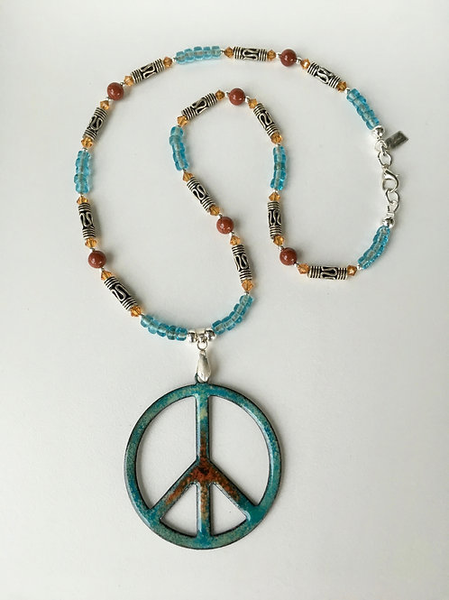 Peace Sign in Teal